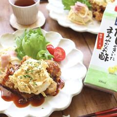 リンカ/美濃焼き/晩御飯/料理/だしのきいたまろやかなお酢/お酢/... だしのきいたまろやかなお酢をモニタープレ…
