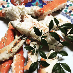 カニ/蟹/あけおめ/フォロー大歓迎/冬/年末年始/... こちらも実家の父の手料理です!蟹を食べる…