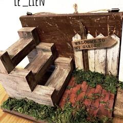 壁掛け/ミニガーデン/ミニチュア雑貨/LIMIAインテリア部/雑貨/LIMIA手作りし隊/... 以前作ったミニガーデンです。壁に掛けられ…