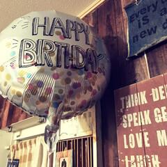 誕生日/風船/フォロー大歓迎/100均/ダイソー もうすぐ次男の誕生日ということで、ダイソ…