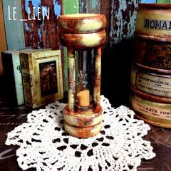 リメイク雑貨/インテリア雑貨/砂時計/100均/ダイソー/インテリア/... 数年前の夫の作品です。DAISOの砂時計…