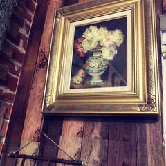 絵画/絵/母の形見/フォロー大歓迎/インテリア/住まい/... 三年前に亡くなった母の形見の絵画です。額…