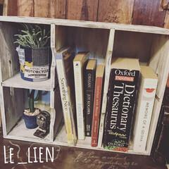 飾り棚/CDラック/リメイク/インテリア/雑貨/DIY/... CDラックをリメイクして、本や雑貨を飾れ…