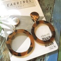 レオパード柄/イヤリング/ダイソー/100均/ファッション/おすすめアイテム/... DAISOでレオパード柄のイヤリングを見…