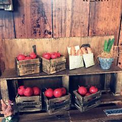 りんご/ミニチュア雑貨/雑貨大好きフォトコンテスト/フォロー大歓迎/ハンドメイド/雑貨/... 雑貨好きはやミニチュア好き?!前にイベン…