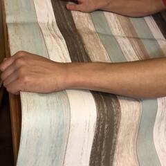 ダイニングテーブルリメイク/スクラップウッド/デコレーションシート/テーブルデコレーション/テーブルクロス/夏インテリア テーブルクロス(テーブルデコレーション)…
