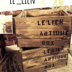 木箱リメイク/木箱/ホームセンター/コーナンの木箱/コーナン/インテリア/... 以前、コーナンで買った木箱(800円ぐら…
