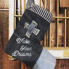 デニム雑貨/靴下/くつ下/クリスマス雑貨/クリスマスイベント/雑貨/... クリスマスイベントに出るのでクリスマスら…