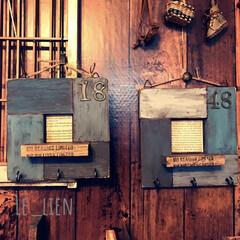 かまぼこ板リメイク/フォロー大歓迎/ハンドメイド/DIY/雑貨/インテリア/... 以前、蒲鉾板で作った壁掛けのディスプレイ…
