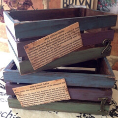 木箱リメイク/ウッドボックス/リメイク雑貨/リメイク/フォロー大歓迎/DIY/... 以前、DAISOの木箱をこんな風にリメイ…