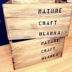 木箱リメイク/フォロー大歓迎/ハンドメイド/雑貨/収納/わたしの手作り 知り合いの作家さんからのオーダーでリメイ…