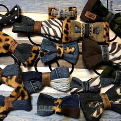 秋冬ファッション/ヘアクリップ/ヘアゴム/ヘアアクセサリー/レオパード柄/レオパード/... 最近の作品を集めてみました!旅立ったもの…