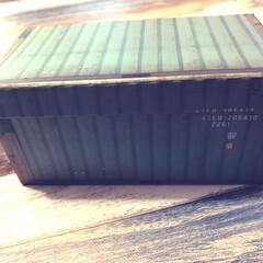 コンテナ風/箱/ボックス/最近買った100均グッズ/ダイソー/100均 ダイソーの紙製ボックスです。コンテナ風で…
