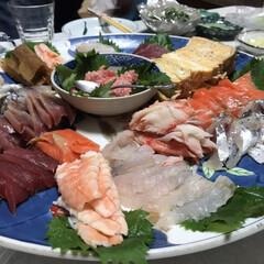 手巻き寿司/LIMIAごはんクラブ/わたしのごはん/グルメ/フード 実家で手巻き寿司パーティーをした時の写真…
