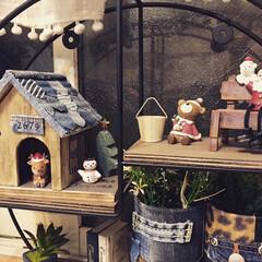 クリスマス雑貨/クリスマスインテリア/ハムスターハウス/デニム雑貨/100均/DIY/... 昨日は5歳の息子ちゃんとクリスマスの飾り…