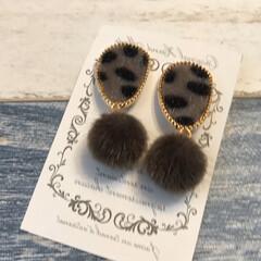 アクセサリー/レオパード柄/イヤリング/メルカリ/メルカリで購入/ハンドメイド/... メルカリで購入したイヤリングが今日届きま…