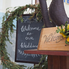 DIY/ウェルカムボード/ウェディング/キュリアスマインズ/アップサイクル 結婚式のウェルカムボード