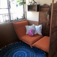 DIY/籠り部屋/キュリアスマインズ/ラグ/衝立/リゾート感/... キュリアス・マインズのDIYで部屋に籠り…