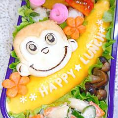 お弁当/ランチ/お昼ごはん/りんご飾り切り/オムライス弁当/オムライス/... 今日の娘弁当です🙋 (3枚目)