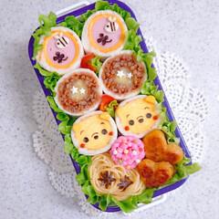 ハッシュドポテト/りんご飾り切り/ランチ/お昼ごはん/手作り弁当/パン弁当/... 今日の娘弁当♥️ ロールサンド弁当です🙋(2枚目)