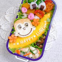 お弁当/ランチ/お昼ごはん/りんご飾り切り/オムライス弁当/オムライス/... 今日の娘弁当です🙋 (2枚目)