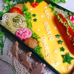 ありがとう/りんご/高校生男子弁当/息子弁当/クリスマス2019/お弁当/... 今日の息子弁当です😃 今年の息子弁当は今…(3枚目)