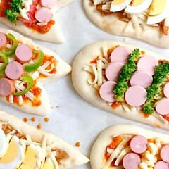 スイーツピザ/こどもの日ごはん/おうちカフェ/おうちごはん/手作りピザ/こいのぼりピザ/... 朝からピザ作り🍕 こどもの日も近いので …(2枚目)