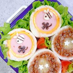 ハッシュドポテト/りんご飾り切り/ランチ/お昼ごはん/手作り弁当/パン弁当/... 今日の娘弁当♥️ ロールサンド弁当です🙋(3枚目)