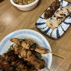 晩ご飯/お兄ちゃん/モツ煮/焼き鳥 昨日の晩ご飯、お兄ちゃんが食べたいって言…