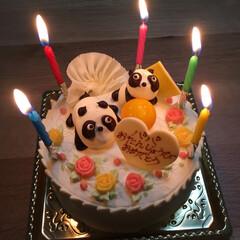 誕生日ケーキ パパの誕生日にバターケーキ🎂を買いました…