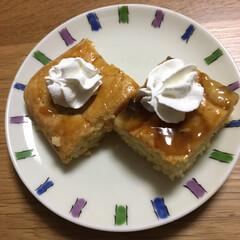 手作りお菓子/食事情 バナナプリンケーキと言う名前のケーキ🎂 …(2枚目)