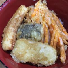 天丼/天ぷら/スタミナ丼/夏に向けて/スタミナご飯/スタミナ飯/... 今日の晩ご飯 自分で久々に天ぷらあげて天…