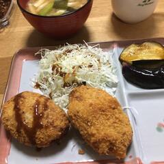 手作りコロッケ/晩ご飯 昨日の晩ご飯 久々に家庭菜園で採れたジャ…