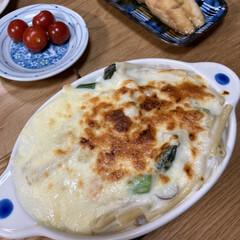 美味しい/煮魚/ドリア/晩ご飯/簡単 昨日の晩ご飯、ドリアです。 残りご飯の上…(1枚目)