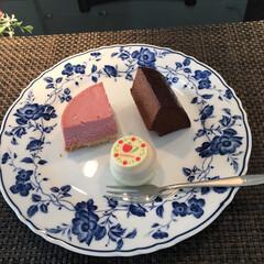 GODIVA/おうちカフェ いただいたお菓子を美味しく食べました。う…
