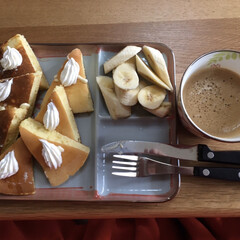 朝ご飯 うちの朝ご飯🥞高カロリー😅