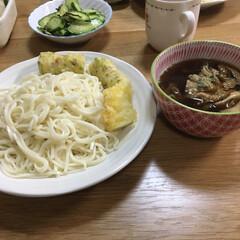 つけ麺/晩ご飯 昨日の夕飯、暑かったからつけ麺