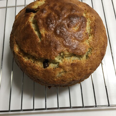 手作りケーキ 先程作ったバナナチョコケーキです。前にダ…