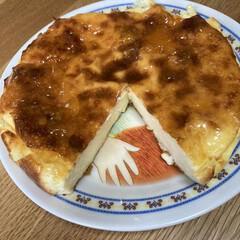 手作りケーキ/ヨーグルトケーキ ヨーグルトケーキ焼きました🍰 甘さが足ら…(2枚目)