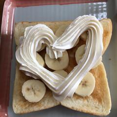 朝ご飯 乃が美のパンでバナナトースト🍌作りました…