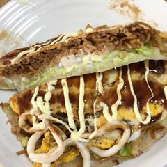 広島焼き お昼に広島焼きを作って食べました。旦那さ…(3枚目)