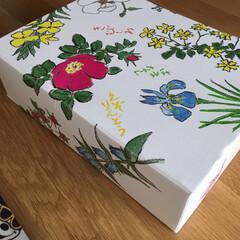 空き箱収納 六花亭の箱、綺麗で可愛いから捨てられてな…(2枚目)