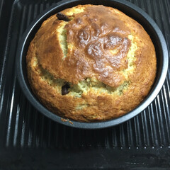 手作りケーキ 先程作ったバナナチョコケーキです。前にダ…(2枚目)