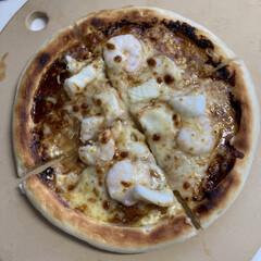 お兄ちゃん/手作りピザ/ピザ生地/業務スーパー 今日のお昼ご飯🍚 この前業務スーパーでピ…
