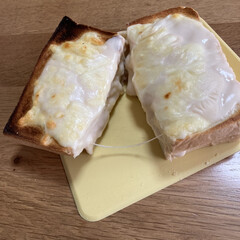 美味しい/食べずらい/簡単/クロックムッシュ クロックムッシュ風なパンを作りました🍞 …(2枚目)
