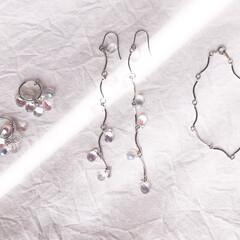 ガラスアクセサリー/ヴィンテージ/アート/一点物アクセサリー/春夏コーデ/オリジナルアクセサリー/... drop pierce/earring …