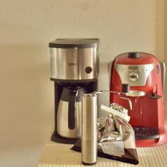転勤族の暮らし/二人暮らし/アラフォー夫婦/コーヒー好き/コーヒータイム/コーヒーメーカー/... おうち時間が長い暮らしを楽しむため、 コ…(1枚目)