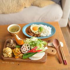家ごはん/野菜好き/おひるごはん/カフェめし風/おうちカフェ/料理/... いつかの野菜もりもりごはん♪ 野菜がいっ…