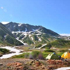 旅行/山の景色/一眼レフ/アウトドア/キャンプ/登山/... 登山キャンプで、 一瞬だけ晴れた時に撮っ…