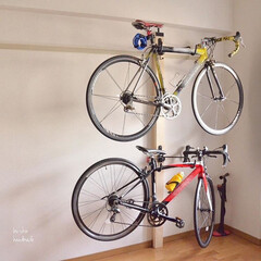原状回復/自転車ラック/ツーバイフォー/サイクルスタンド/サイクリング/雨季ウキフォト投稿キャンペーン/... 自転車ラック、2×4で作りました♪  最…
